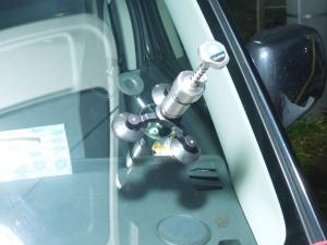 ワゴンRのフロントガラスリペア