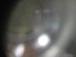 スズキ セルボのフロントガラスリペア施工後