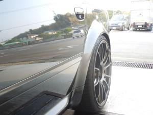 アウディ S6のフロントガラスリペア