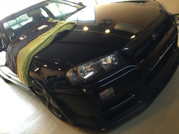 スカイライン GT-Rのフロントガラスリペア